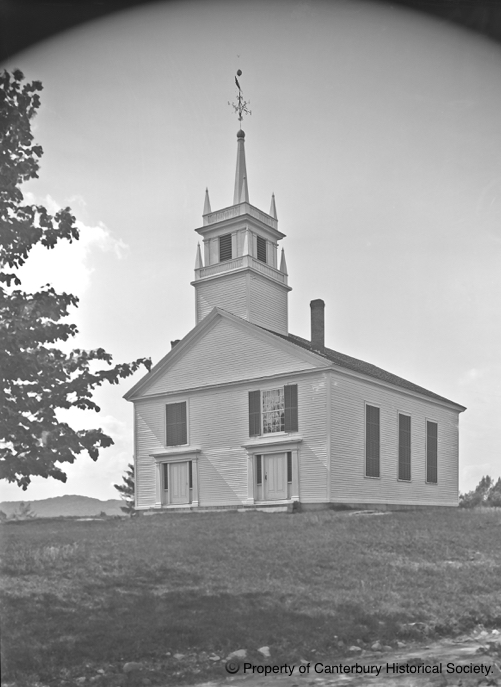The Worsted Union Church, CODY.  Property of Canterbury Historical Society and not for reprinting.